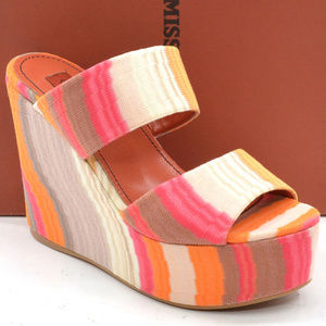 Missoni Wedge Platform Slides Sandals size 37 NIB